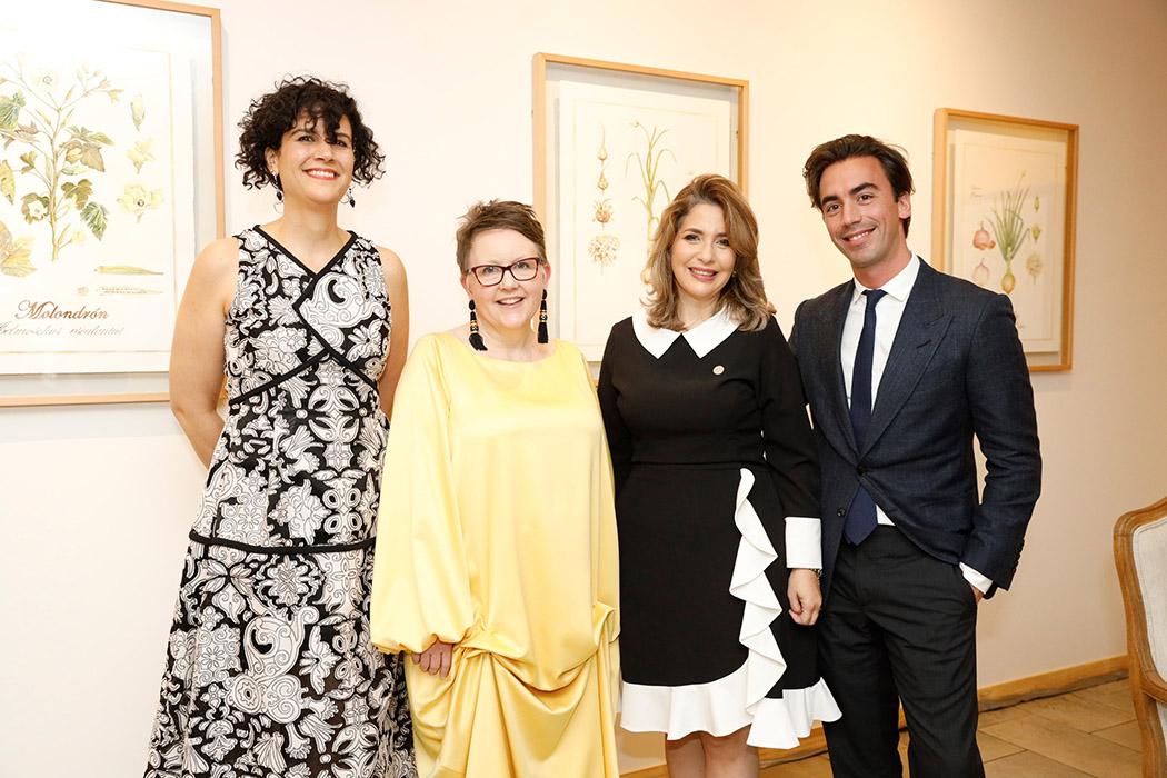 Amelia Vicini, Molly Sorkin, María Luisa Asilis y Fernando García