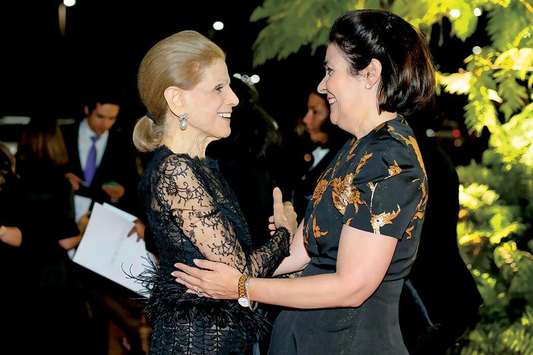 Annette de la Renta and María Amalia León de Jorge