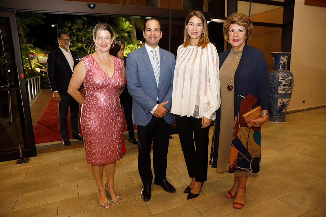 Beryl Jacobs, Frank Elias Rainieri, María Elena Aguayo and Pilar de Rainieri