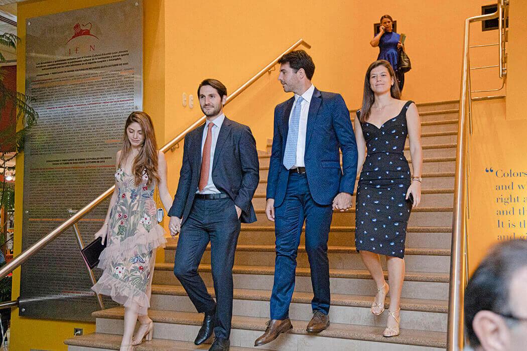 Camila Fernández, Antonio Jorge, Javier Piniella y Daniela Bisonó