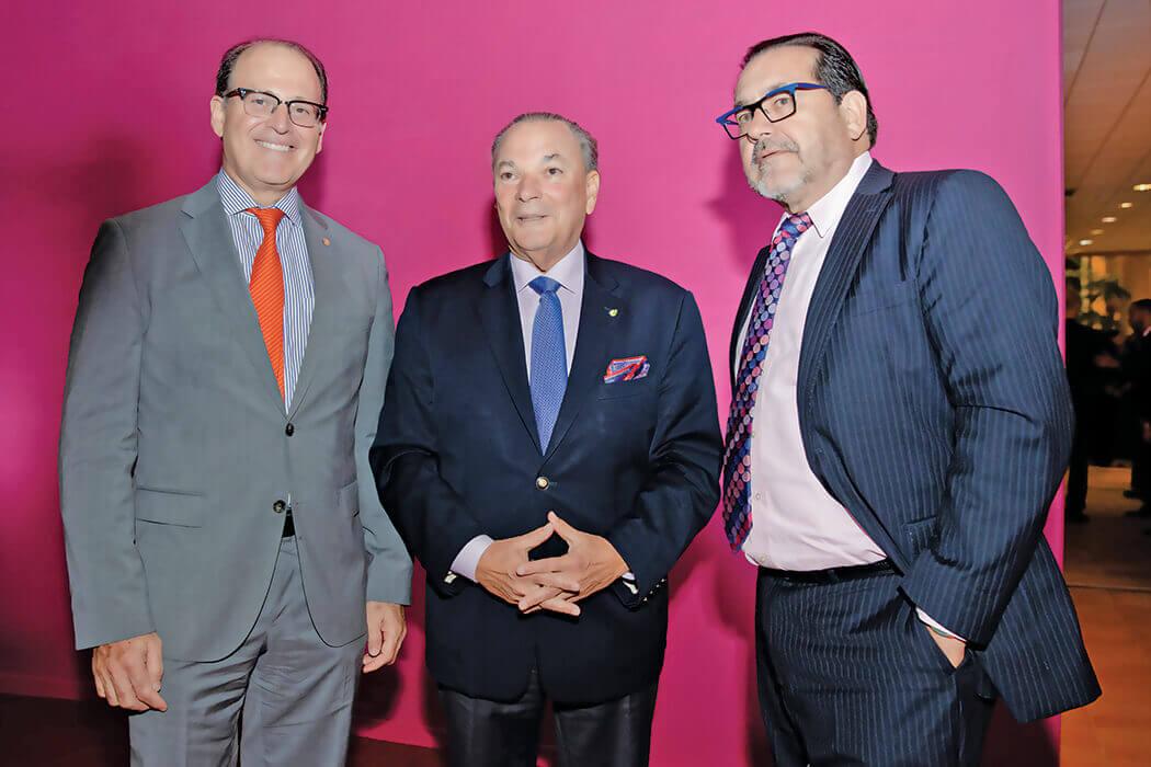 Carlos Guillermo León, Frank Rainieri y Luis Manuel León