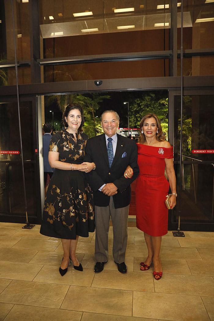 María Amalia León de Jorge, Frank Rainieri and Haydée Kuret de Rainieri