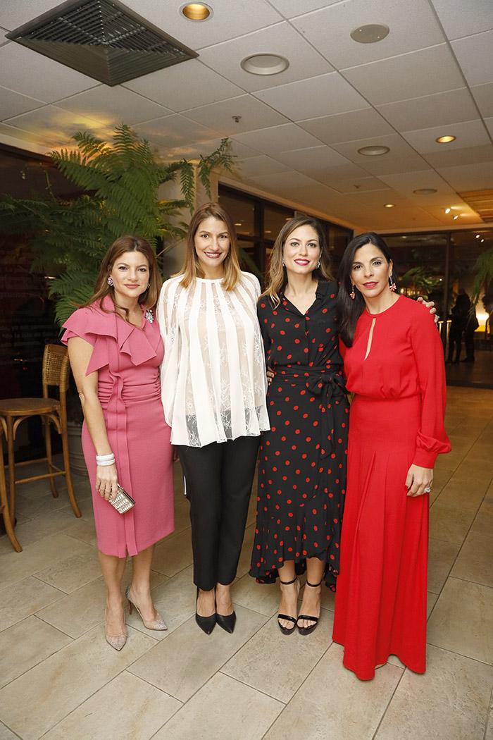 Paola Rainieri, María Elena Aguayo, Yinet Ureña de Rainieri, Francesca Rainieri